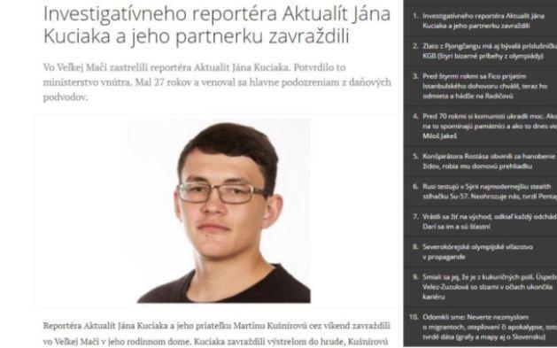 В Словакии застрелили расследовавшего коррупцию журналиста: фото
