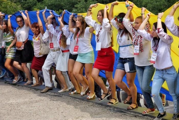 Как отмечают День флага по всей Украине: фото, видео
