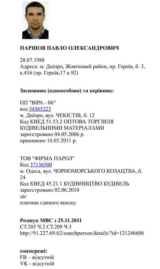 Расстрел Вороненкова: МВД раскрыло имя и личные данные киллера