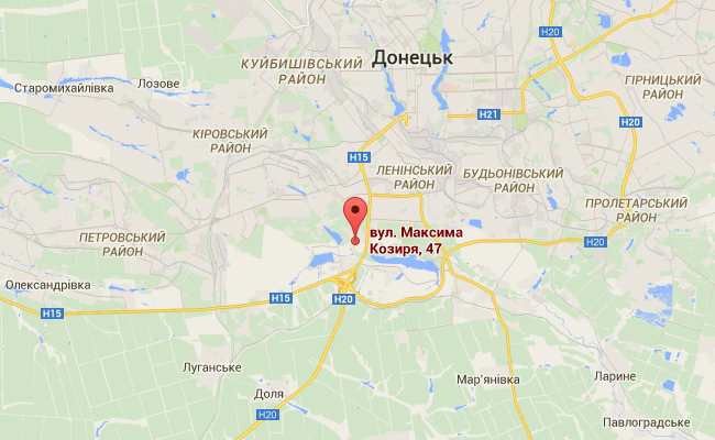 В Донецке боевики вели огонь из Града во дворе многоэтажки: видео