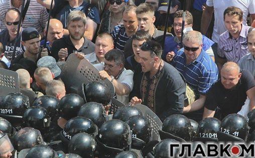 Лидеры Свободы участвовали в побоище под Радой: фотофакт