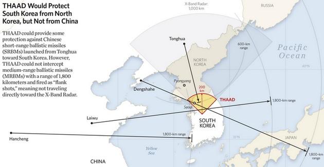 Сеул: Китай хочет помешать размещению ПВО США в Южной Корее