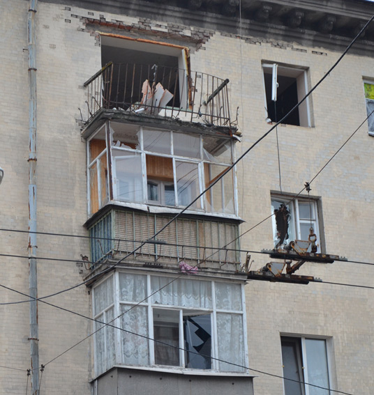 В Житомире в здании пятиэтажки прогремел мощный взрыв: фото