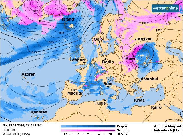 Циклон из Италии принесет в Украину обильные снегопады и метели
