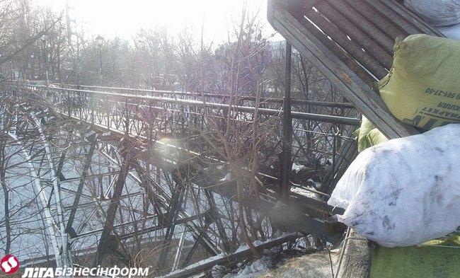 В Киеве частично сгорел мост влюбленных