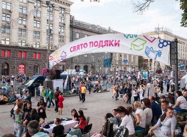Ник Вуйчич с украинцами на Крещатике встретил День благодарения!