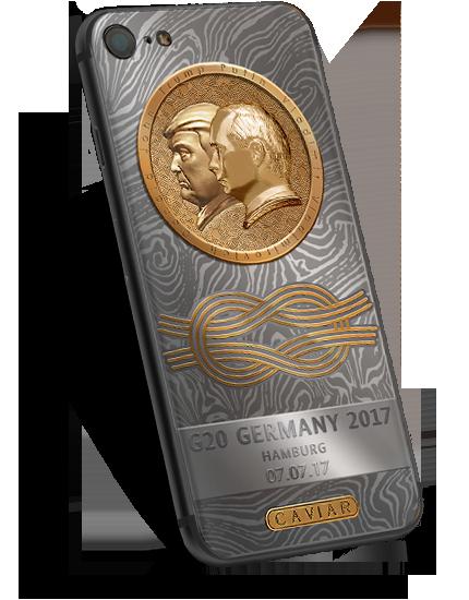 В России продают телефоны с золотыми профилями Трампа и Путина