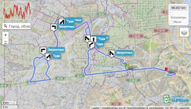 В Киеве 3 сентября ограничат движение транспорта из-за велогонки