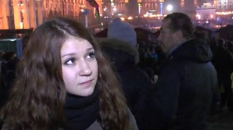 Евромайдан в Киеве, день третий: ночная хроника