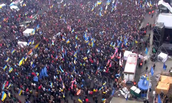 На Евромайдане в Киеве началось Народное вече
