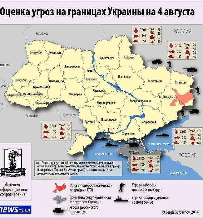 На границе с Украиной находится 42 тыс. российских солдат