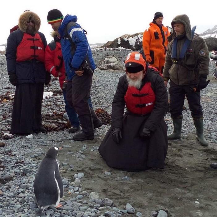 Патріарх Кирило в Антарктиді провів зустріч з пінгвінами