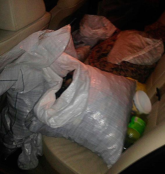 Милиция изъяла 89кг янтаря изавтомобиля жителя Луцка