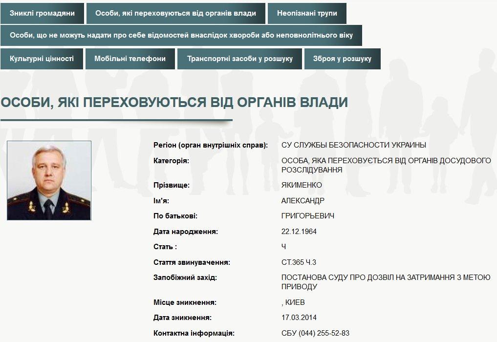 ГПУ объявила о подозрении экс-главе СБУ Якименко и его заму. Бывший начальник СБУ Киевщины взят под домашний арест - Цензор.НЕТ 7345