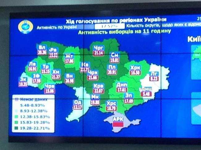Выборы президента Украины: явка на 11:00 составила 17,52% - ЦИК