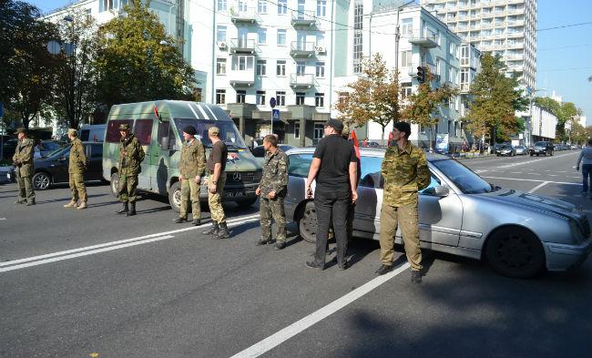 Правый сектор блокировал улицы в правительственном квартале