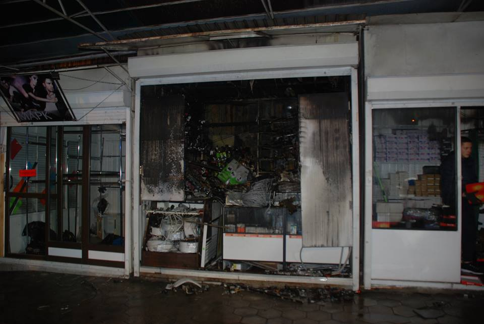 Во Львове горел один из крупнейших рынков: видео