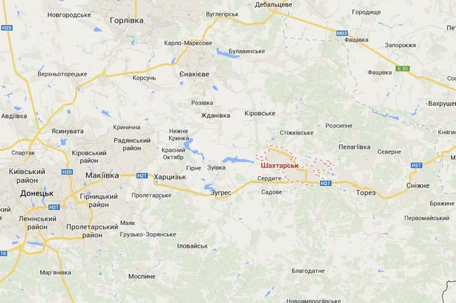 Украинские силовики понесли потери в Шахтерске - пресс-центр АТО