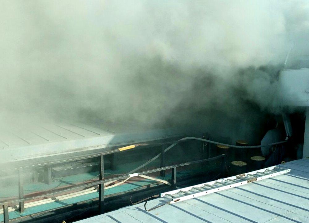 Насудоремонтном заводе вОдесской области горело грузовое судно