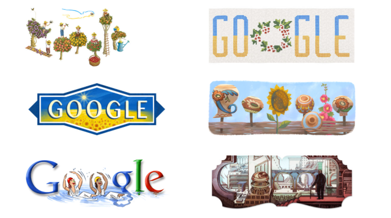 Google поздравил Украину с Днем Независимости