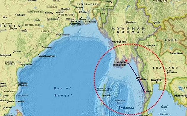 В Мьянме найдены обломки пропавшего самолета и тела погибших