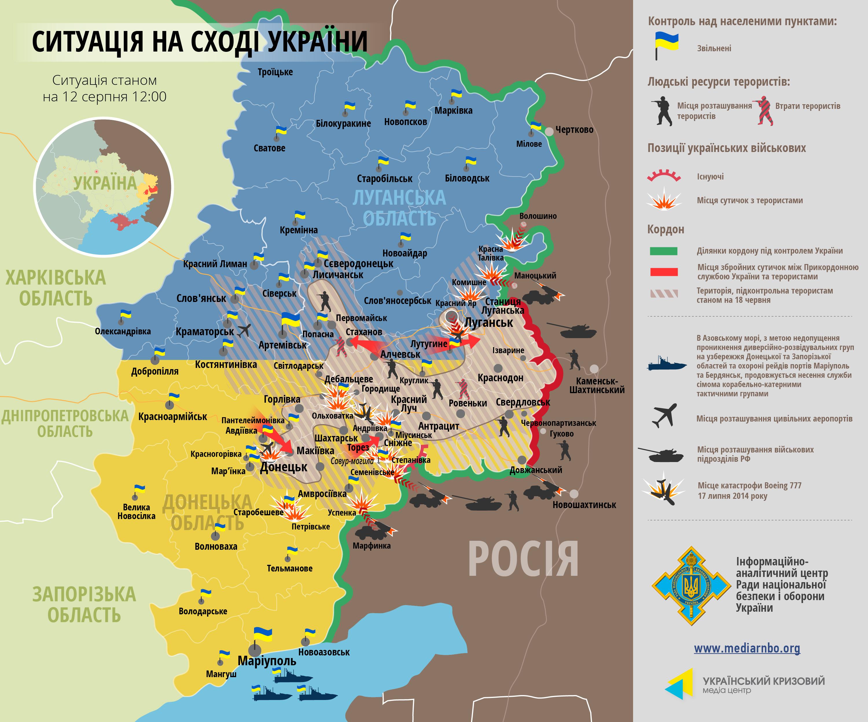 Силы АТО готовятся к дальнейшему наступлению: карта боев