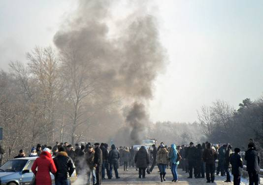 Акции протеста активизируются и охватывают новые регионы Украины