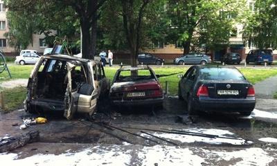 Главе броварского УДАРа сожгли машину: фото