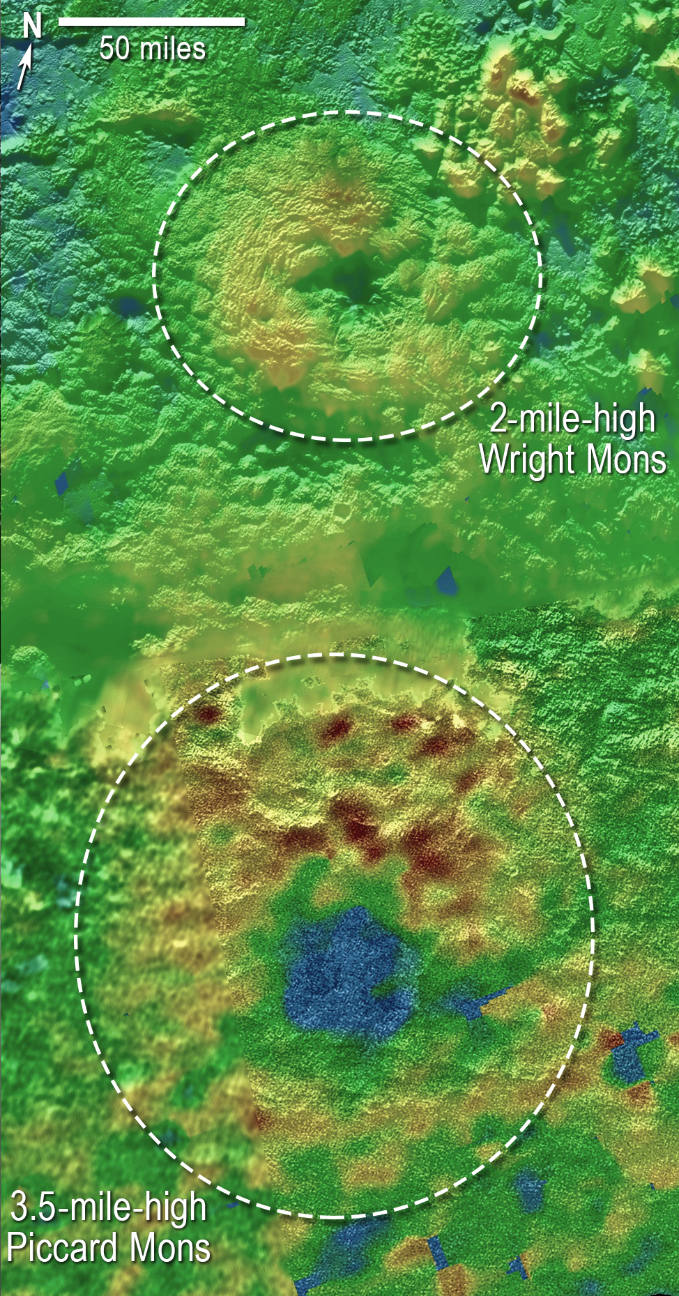На Плутоне обнаружили два ледяных вулкана