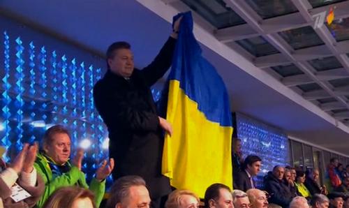 Януковича в Сочи показали в российской версии трансляции