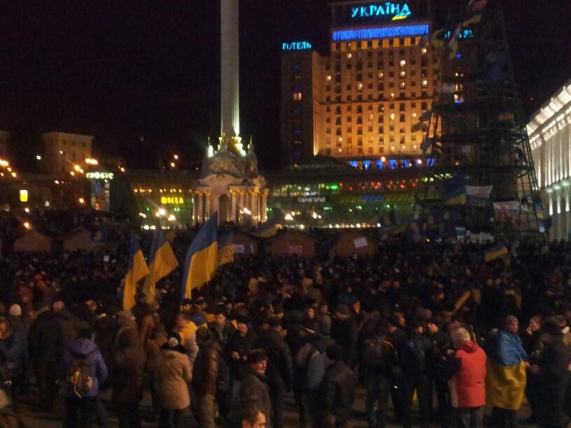 """11-й день Евромайдана: тысячи протестующих и жестокий """"Беркут"""" (фото, видео)"""