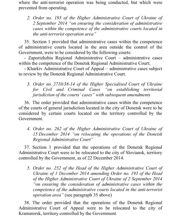 Вердикт ЕСПЧ: Украина не отвечает за то, что в ОРДЛО нет судов