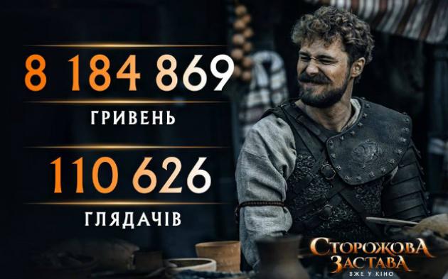 """Фильм """"Сторожова застава"""" за первый уикенд собрал 8,2 млн грн"""