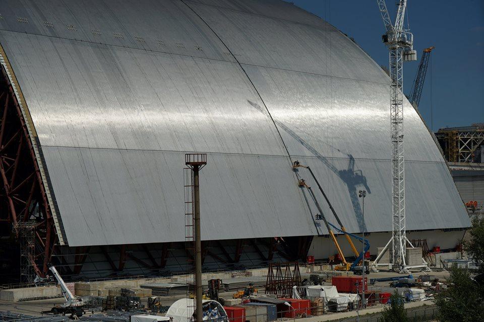 Строительство нового саркофага для ЧАЭС на завершающей стадии