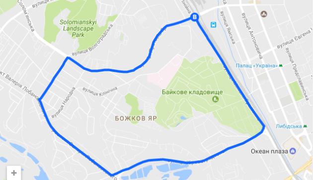 ВКиеве перекроют улицы вдень города: схема