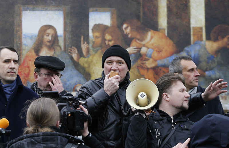 В Минске после первомайского шествия задержан лидер оппозиции