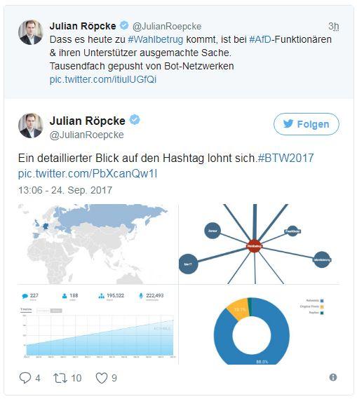 Выборы в ФРГ: российские боты в Twitter поддерживают ультраправых