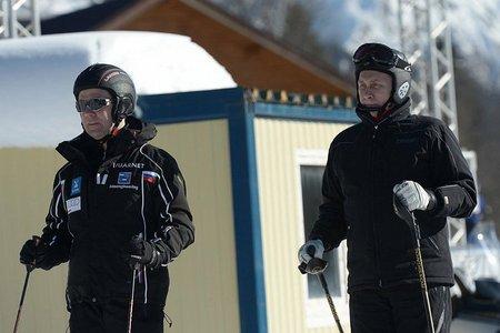 Путин опробовал горнолыжные трассы олимпийского Сочи