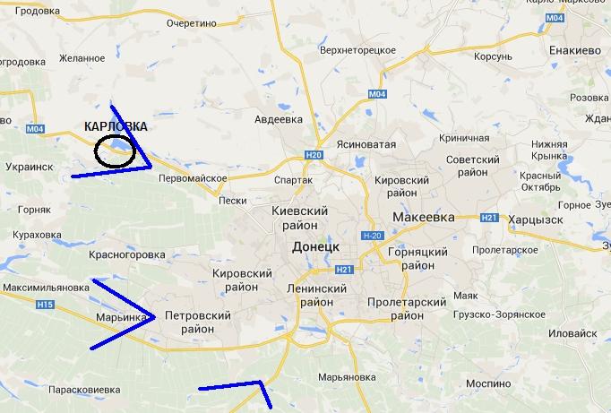 Эпицентрами АТО становятся Донецк и Луганск