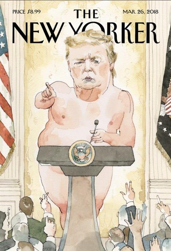 New Yorker опубликовал на обложке голого Трампа