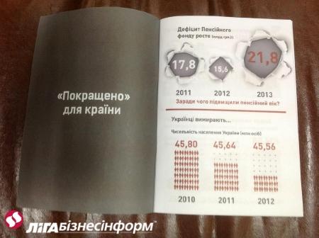 Почему Азаров должен уйти: оппозиция агитирует в Раде брошюрами