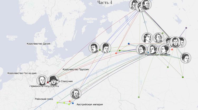 """""""Войну и мир"""" пересказали через интерактивную инфографику"""