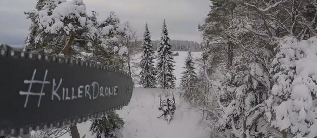 Дрон з бензопилою: фінські фермери виклали відео ноу-хау