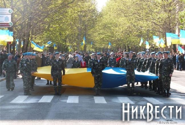 В Николаеве состоялся марш Победы (фото)