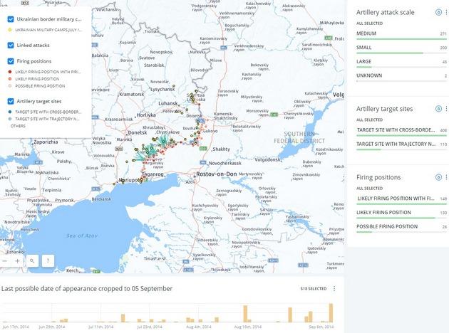 Bellingcat обнародовал карту обстрелов Украинского государства стерриторииРФ