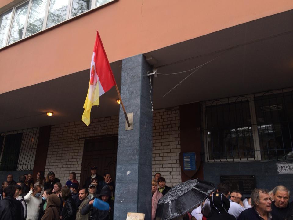В Одессе сепаратисты вывесили флаг России на здании МВД