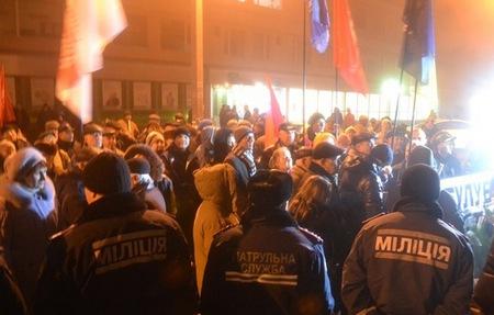 В Черкассах активисты пикетировали дом губернатора Тулуба