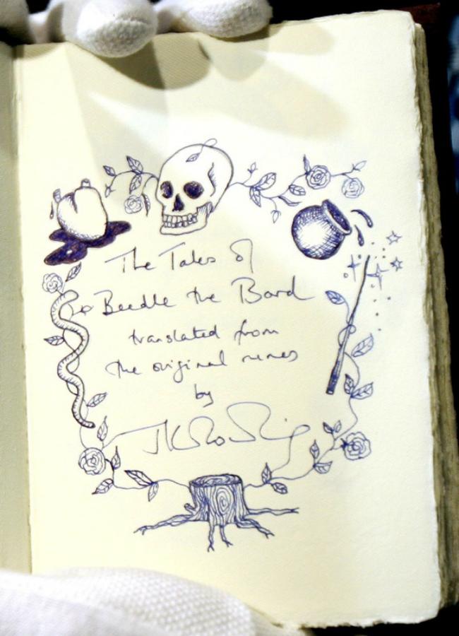 Рукописная книга Роулинг ушла с молотка почти за $470 тысяч: фото