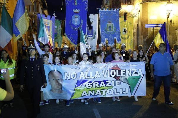 В Италии прошло шествие в память о погибшем украинце: фото