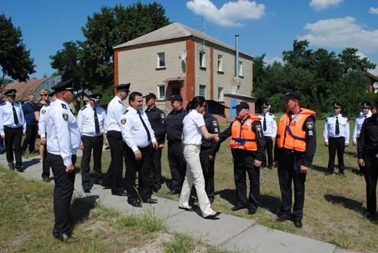ВКиевской области запустили первую патрульную лодку